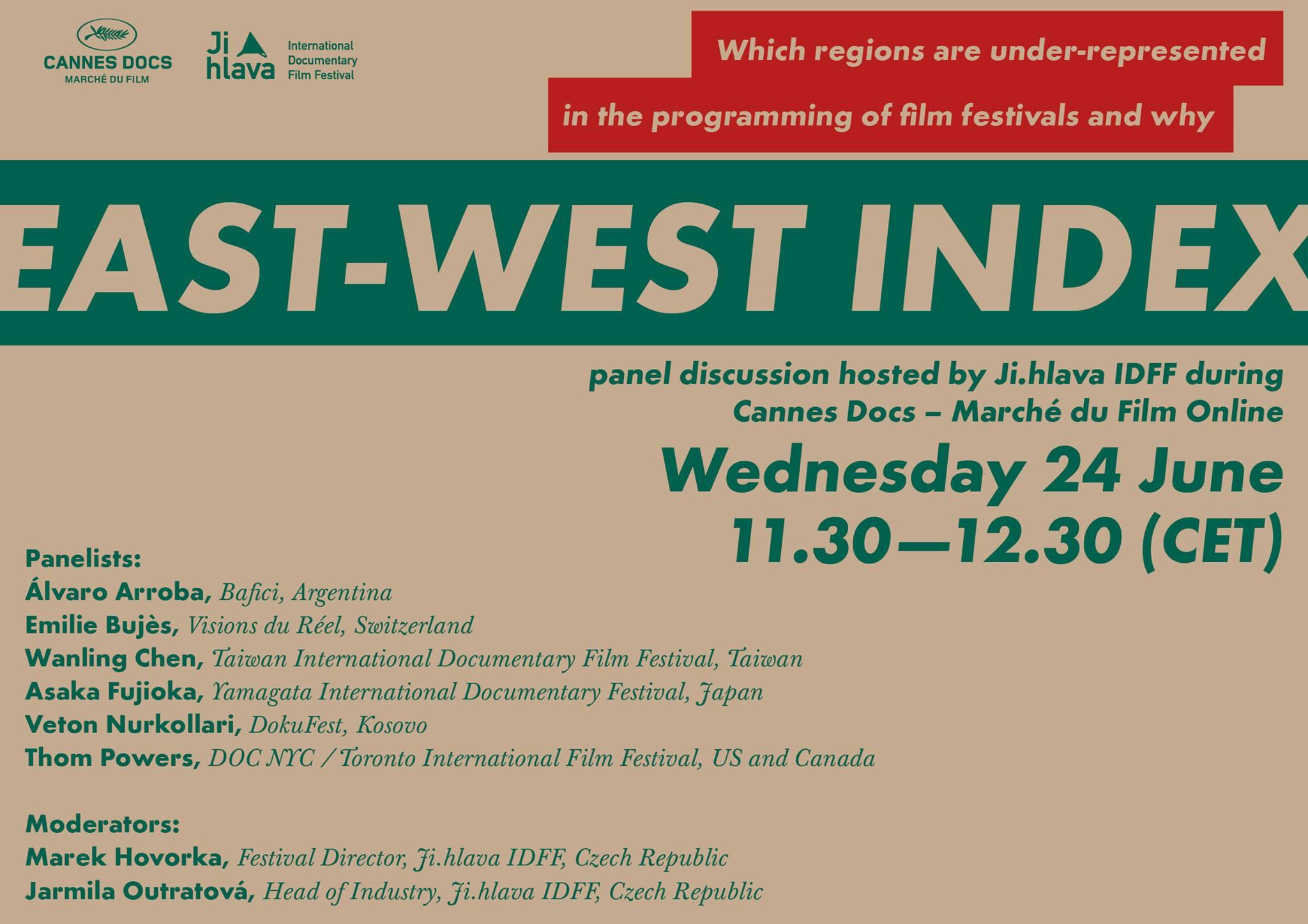 DokuFest Part of East-West Index 2020 @ Marché du Film — Festival Cannes